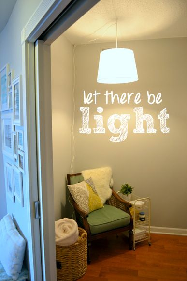 Let there be light; Swag Light DIY