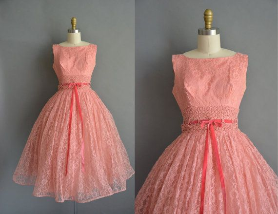 Hey, I found this really awesome Etsy listing at https://www.etsy.com/listing/491341557/peach-pink-lace-50s-cupcake-party-prom