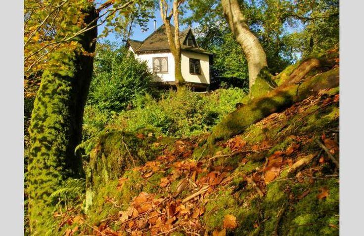 A beautiful bespoke award-winning octagonal wooden treehouse holiday home in Argyll, Scotland  #ScotSpirit #treehouse #holiday #Scotland #woodland