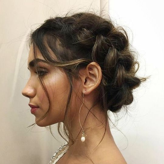 hair style for weddings les 644 meilleures images du tableau crown braid 8485