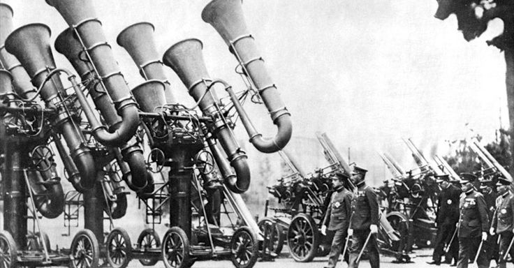 "1920s-1930s - ""War tubas"" The strange history of listening before radar In WWI, warfare got really loud. How armed forces detected airships before radar."