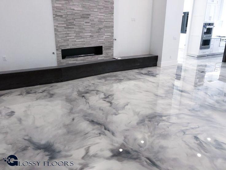 Metallischer Marmorepoxidboden Von Den Glatten Boden Von Nordwest Arkansas Favorite Interior Floors And Mor Geschliffener Beton Epoxit Boden Polierter Beton