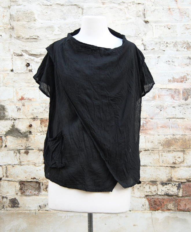 Ruched cowl neck top in black | Women's Fashion | Dresses, Tops and more | Et La Mer