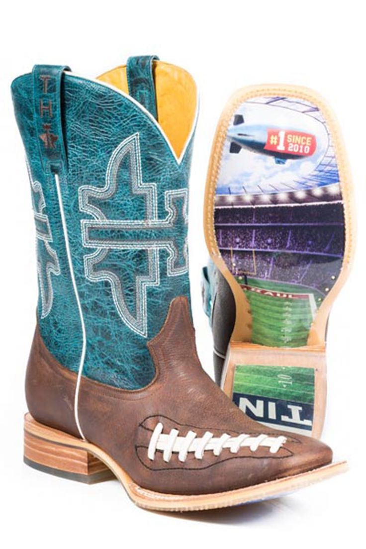 Tin Haul Football Men's Cowboy Boots - HeadWest Outfitters