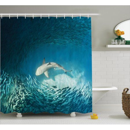 Polyester shower curtains bathroom decor home decorations seabed fish