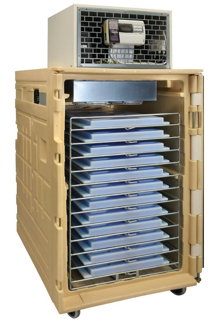Koala 1000 Cámara de acondicionamiento rápido - <span>Cámara de acondicionamiento rápido por placas eutécticas Melform.</span><br />Estantería incluída. Koala 1000 UCR abierto