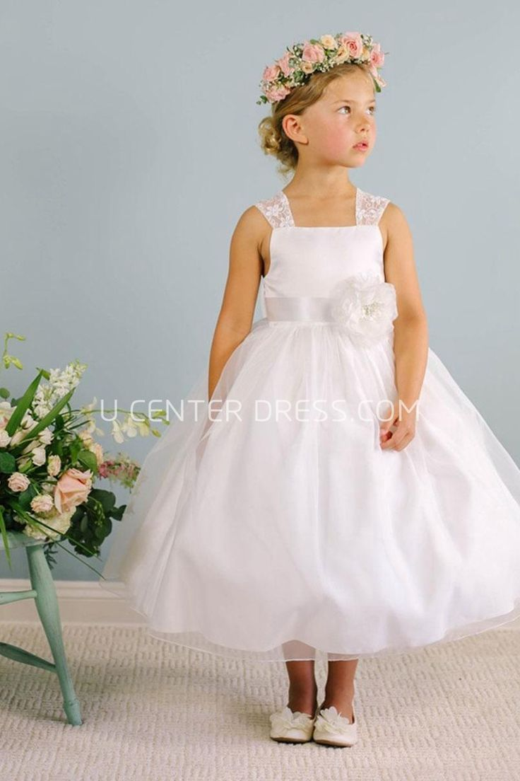 $56.27-Tea-Length Bowed Floral Lace&Organza White Flower Girl Dress. http://www.ucenterdress.com/tea-length-bowed-floral-lace&organza-flower-girl-dress-with-sash-pMK_401187.html. Shop for best flower girl dress, baby girl dress, girl party dress, gowns for girls, dresses for girl, children dresses, junior dress, pageant dresses for girls We have great 2016 fall Flower Girl Dresses on sale. Buy Flower Girl Dresses online at UcenterDress.com today! #flowergirldress