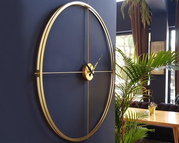 Pin On Large Metal Wall Clock
