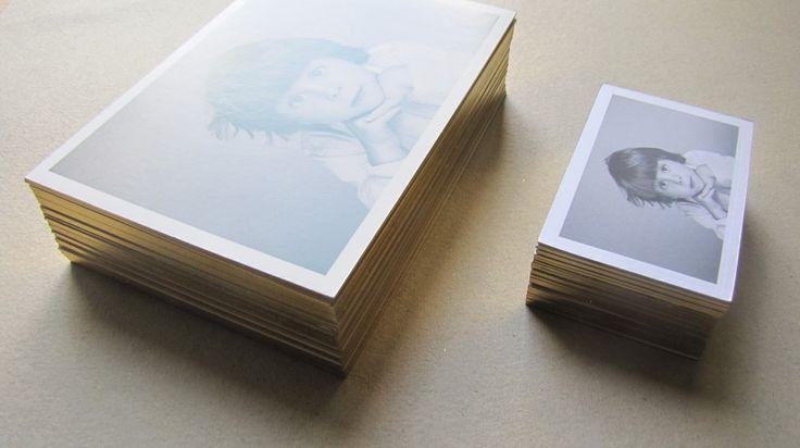 letterpress postcards + gold foil edging