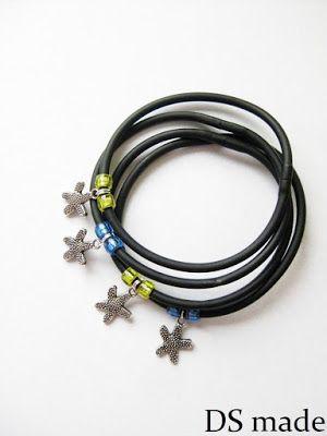 holiday jewelery bracelet bransoletka na lato z zawieszkami gwiazdki rozgwiazdy