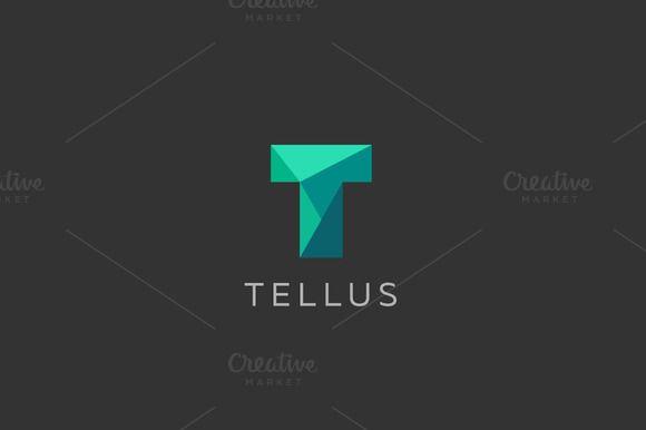 Polygon letter T logo design by Bureau on @creativemarket