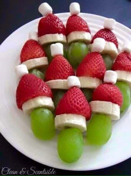 Kerstman druif aardbei