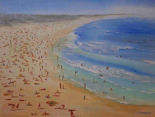 On The Beach acrylic on canvas painting 75 x 95cm FOR SALE