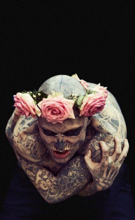 Rick Genest aka Zombie boy.