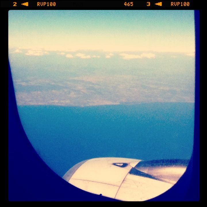 Flying to Italy...