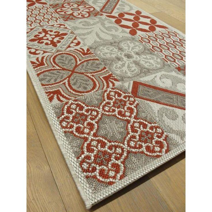 tapis de cuisine long carreaux de ciment rouge star. Black Bedroom Furniture Sets. Home Design Ideas