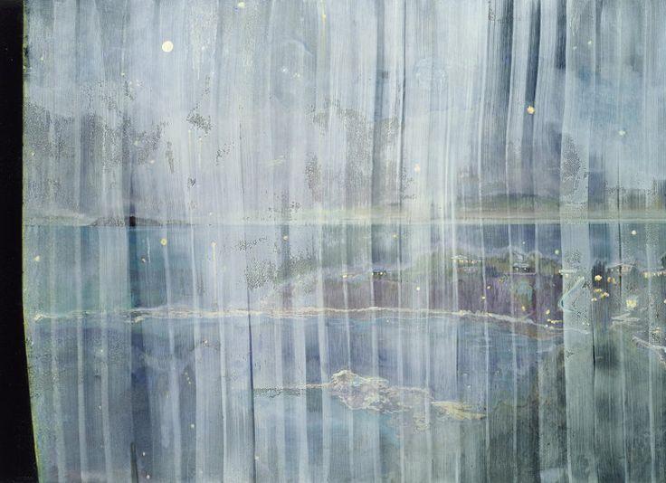 Peter Doig, Black Curtain (Towards Monkey Island), 2004, 200 x 275 cm, oil on canvas.