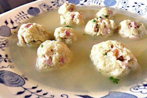 Recept na Šunkové knedlíčky do polévky