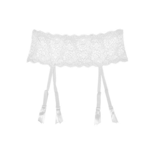 Cosabella Never Say Never Garter Belt ($47) ❤ liked on Polyvore featuring intimates, garters, white, cosabella, suspender belt and garter belt