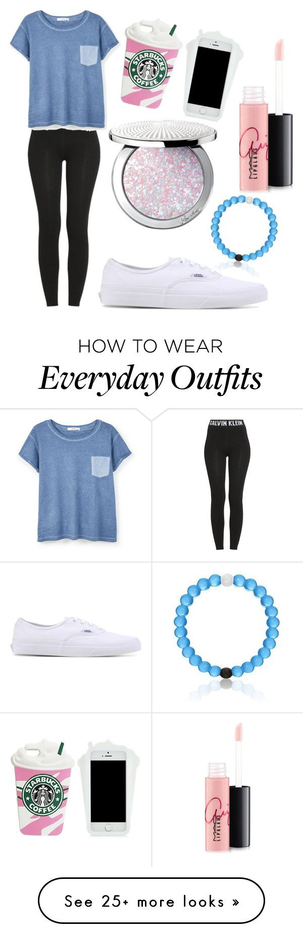 """my everyday outfit"" by firebolt1725 on Polyvore featuring Calvin Klein, MANGO, Vans, Guerlain and MAC Cosmetics"