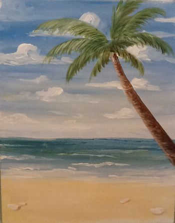 108 best images about palmtrees on pinterest for Beach mural painting