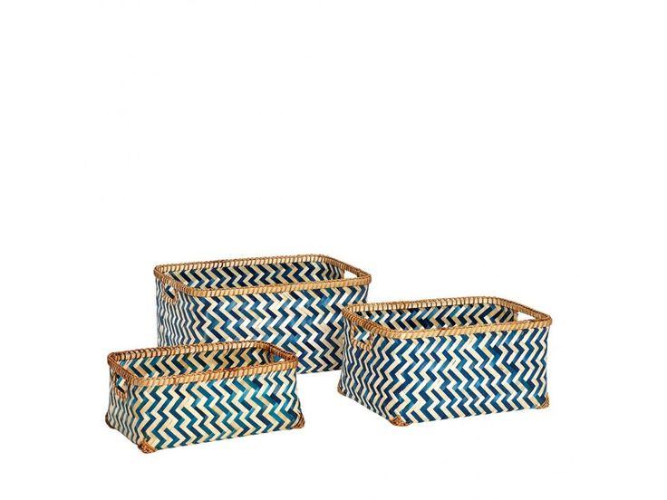 Koszyki Pattern I — Koszyki Hübsch — sfmeble.pl   #scandinavian  #minimalism  #homedecor