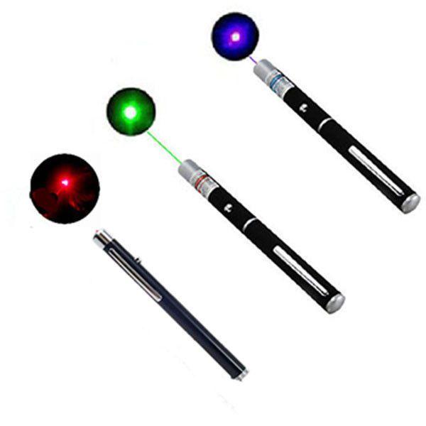 Haute Qualité 1 PC Haute Puissance Puissant Vert/Rouge/Bleu Laser Pointeur lampe de Poche Faisceau de Stylo Lumière 5 mW professionnel Laser lampe de Poche