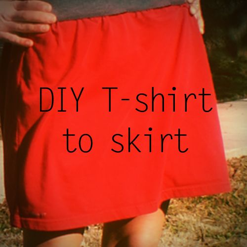 Old T-shirt Crafts--Tshirt skirt