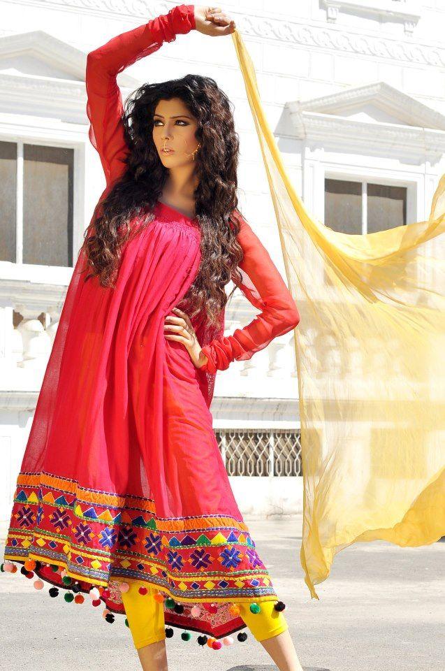 Arfa's Latest Pakistani Girls summer lookbook Dress Collection 2013 – 11