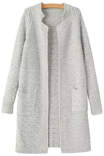 Solid Color Stand Neck Cardigan