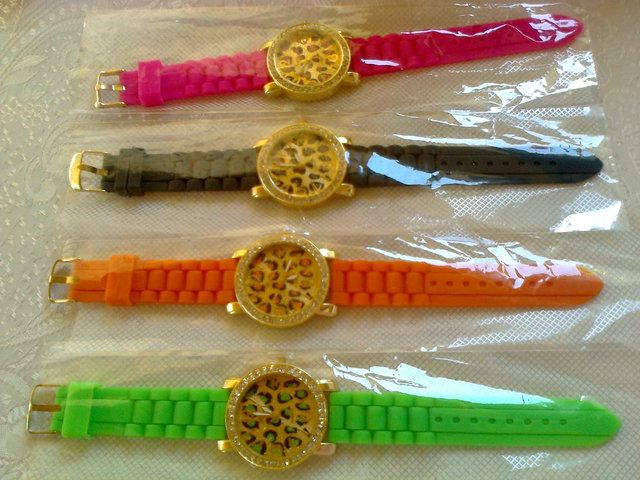 ' Trendy Fiotex Bright Colored Silicon Watch with CZ ' is going up for auction at 12am Sat, Aug 10 with a starting bid of $1.