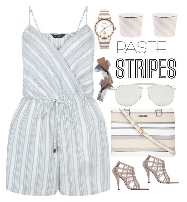 """""""Sophisticated Trend - Pastel Stripes"""" by rasa-j ❤ liked on Polyvore featuring New Look, Dorothy Perkins, Rodolphe Menudier, Thom Browne and Johnny Loves Rosie"""