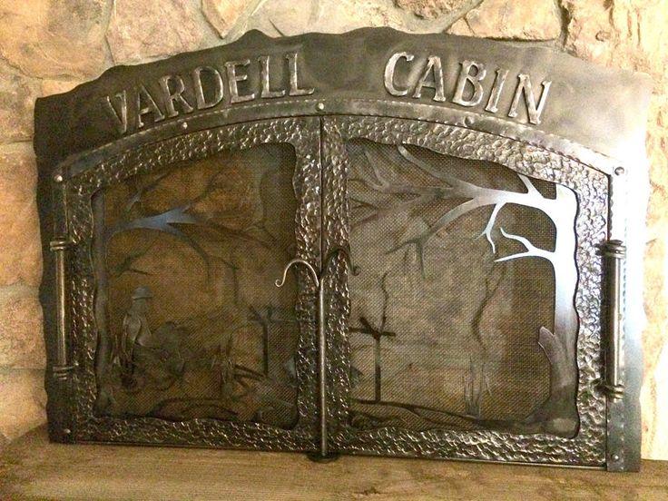 Cabin Custom Fireplace Screen