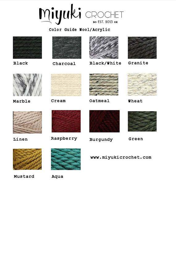 Wool & Acrylic Ribbed Circle Scarf . Miyuki by MiyukiCrochet