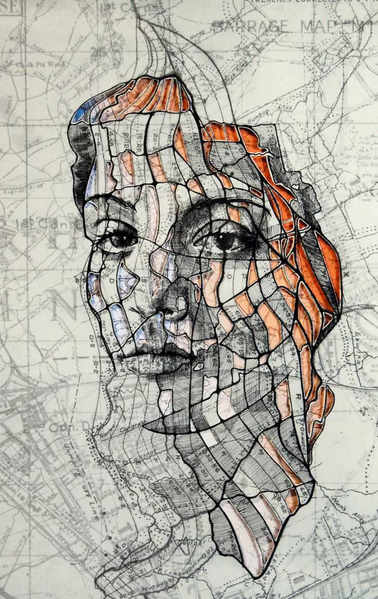 Portraits Illustrated on Various Maps by Ed Fairbanks