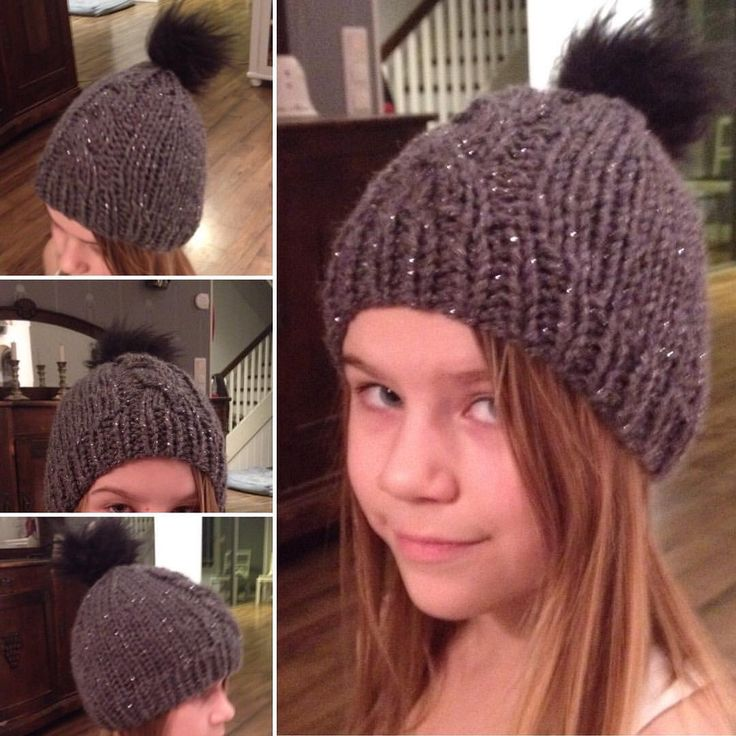 Daughter got a new winterhat :) Fast to make. Took just one evening while watching telly.
