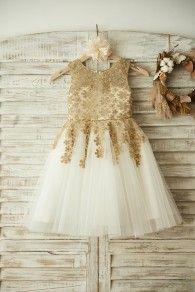 Princessly.com-K1003376-Gold Lace Ivory Tulle Wedding Flower Girl Dress-20