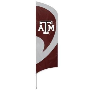 Texas A&M Aggies Tailgating Tall Team Feather Flag with Flagpole