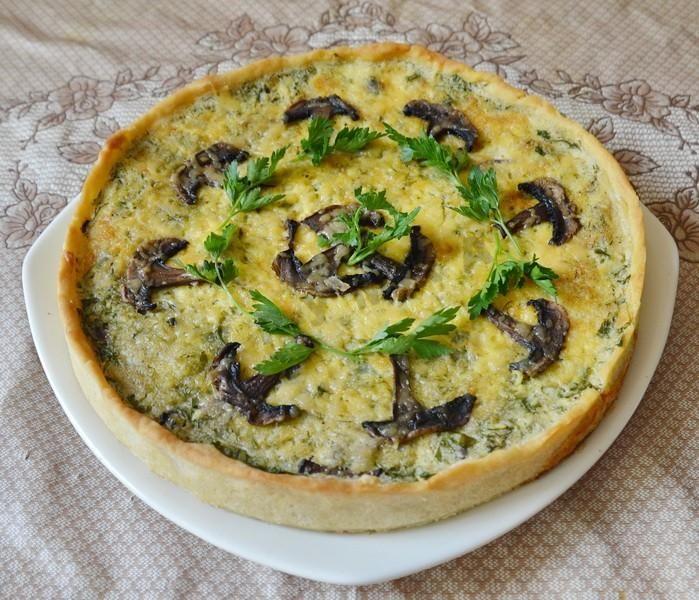 Сырный пирог Киш Лорен с грибами