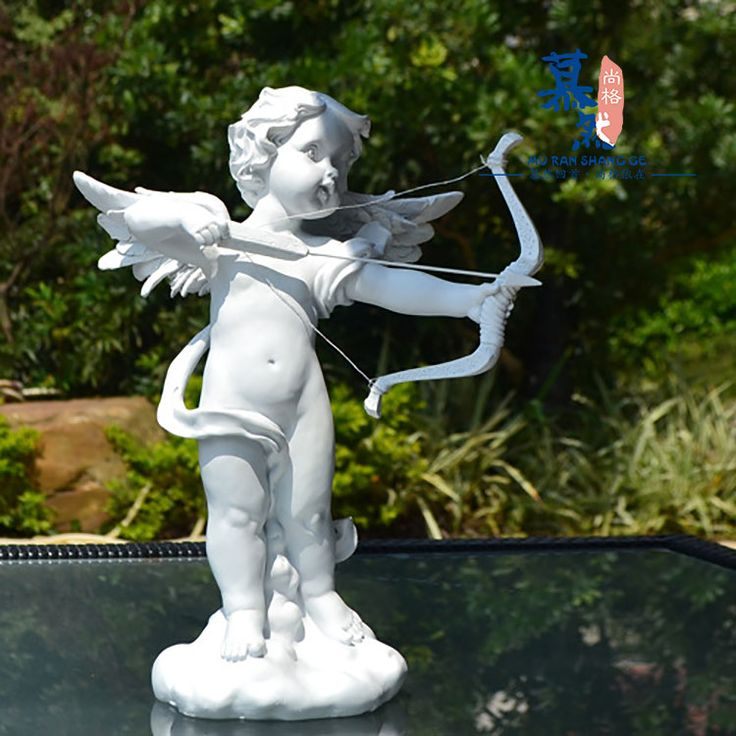 Внешняя торговля смолы ремесел белый херувима Купидон дома сад во внутреннем дворе скульптуры украшения сада украшения - Taobao