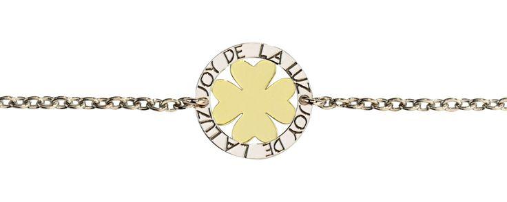 Joy de la Luz   Silver bracelet leaf gold  €39,95