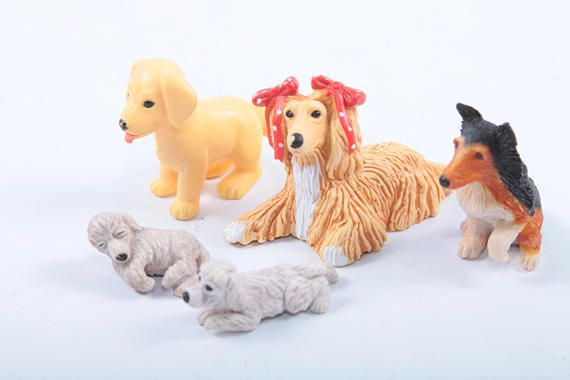 Puppy In My Pocket Vintage Hasbro Toys Small Plastic Dogs Afghan Shetland Shepherd Baby Poodles Labrador   The Pink Room  170220 by ThePinkRoom