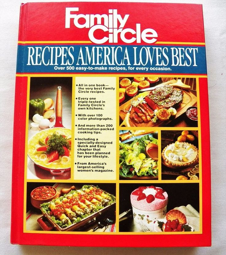 $3.00 - Family Circle Recipes America Loves Best 1982 HC (22617-153 BO) vintage cookbook