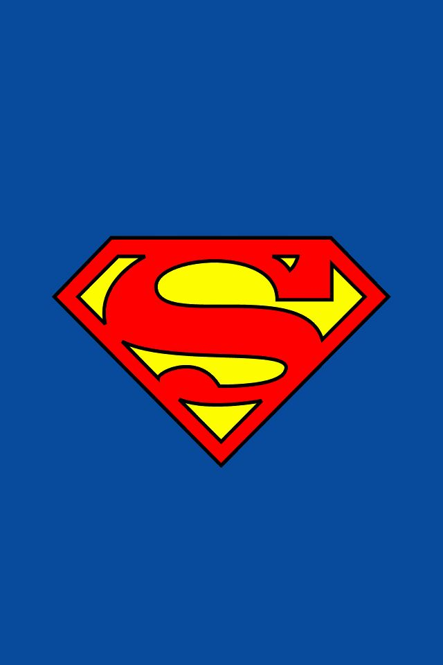 Download free logos wallpaper Superman Logo with size 640x960 pixels for iPhone