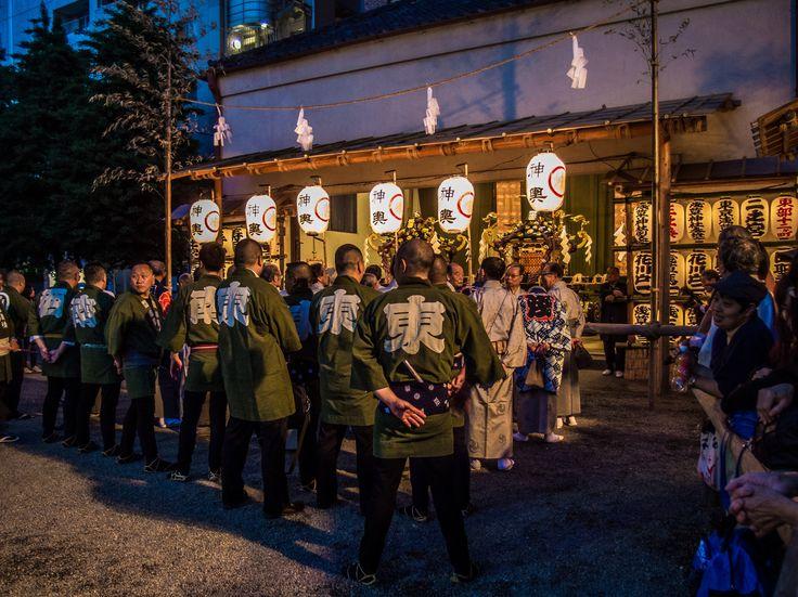 Asakusa Honsha Mikoshi Mitamaire 5/6 Representatives of the various chonaikai (neighborhood associations) gathered in front of the warehouse for the mitamaire ceremony. #Asakusa, #omikoshi, #honsha, #Jinja, #mitamaire, #chonaikai May 12, 2016 © Grigoris A. Miliaresis