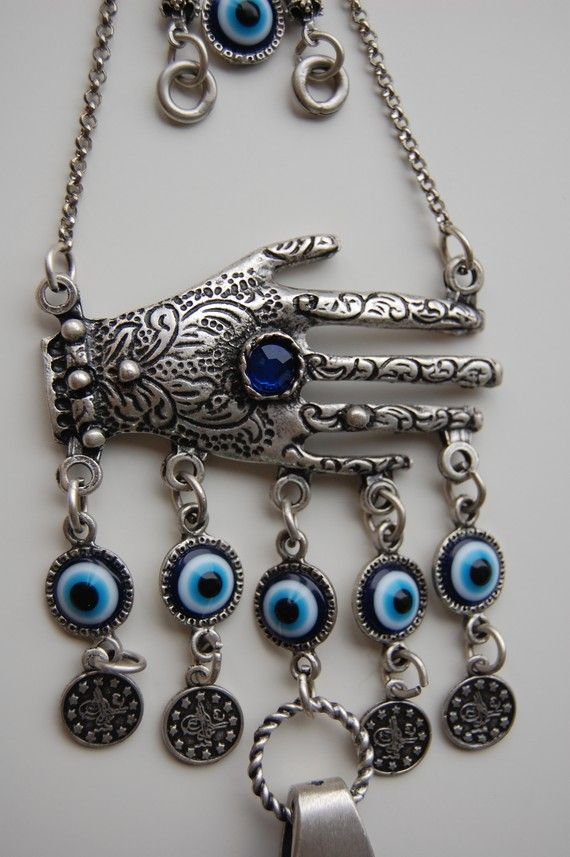Lapis Hamsa Hand Wall Hanging Amulet Handmade by TheEvilEyeBAZAAR
