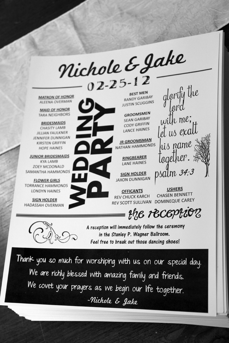 8 best Wedding Programs images on Pinterest | Bridal invitations ...