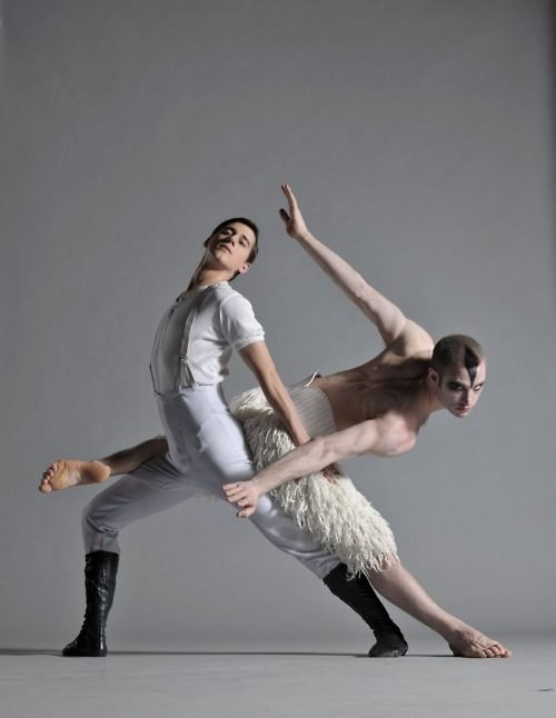 Swan Lake - chor. Marius Petipa, Lev Ivanov (1895) - recension: Matthew Bourne  (1995) - with Adam Cooper (Swan) and Scott Ambler (Prince) (info via http://emeritusblog.tumblr.com)
