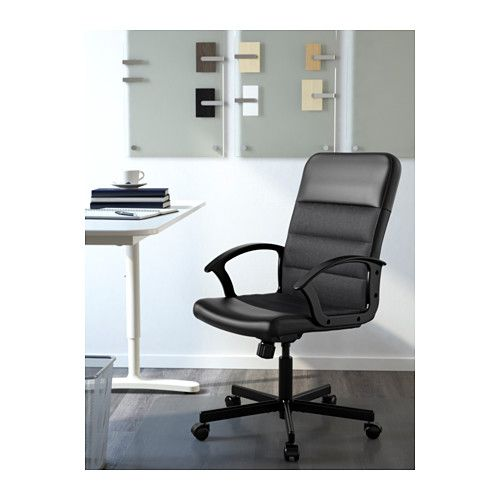 RENBERGET Swivel chair, Bomstad black Bomstad black -