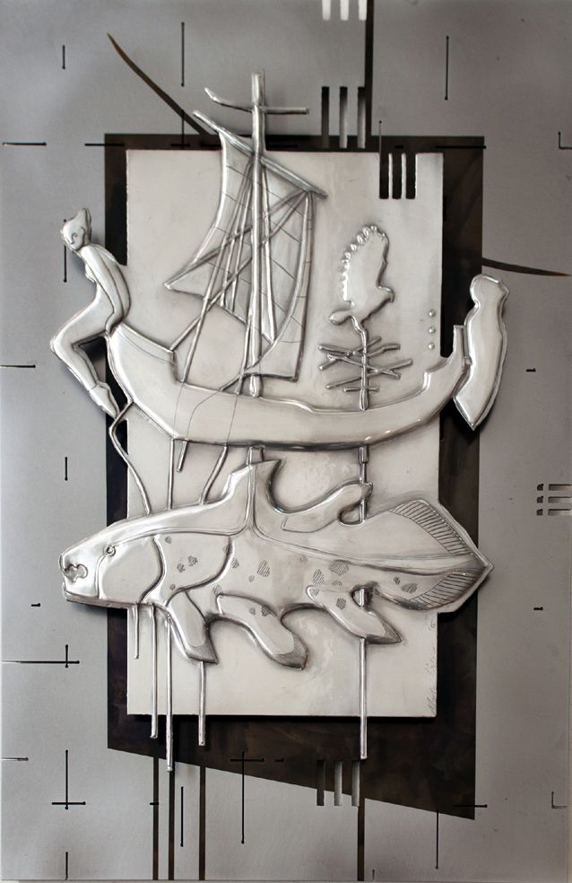 The Deep  400 x 600 mm Unknown Pewter, Mild Steel, Etching Artist Martie Bitzer